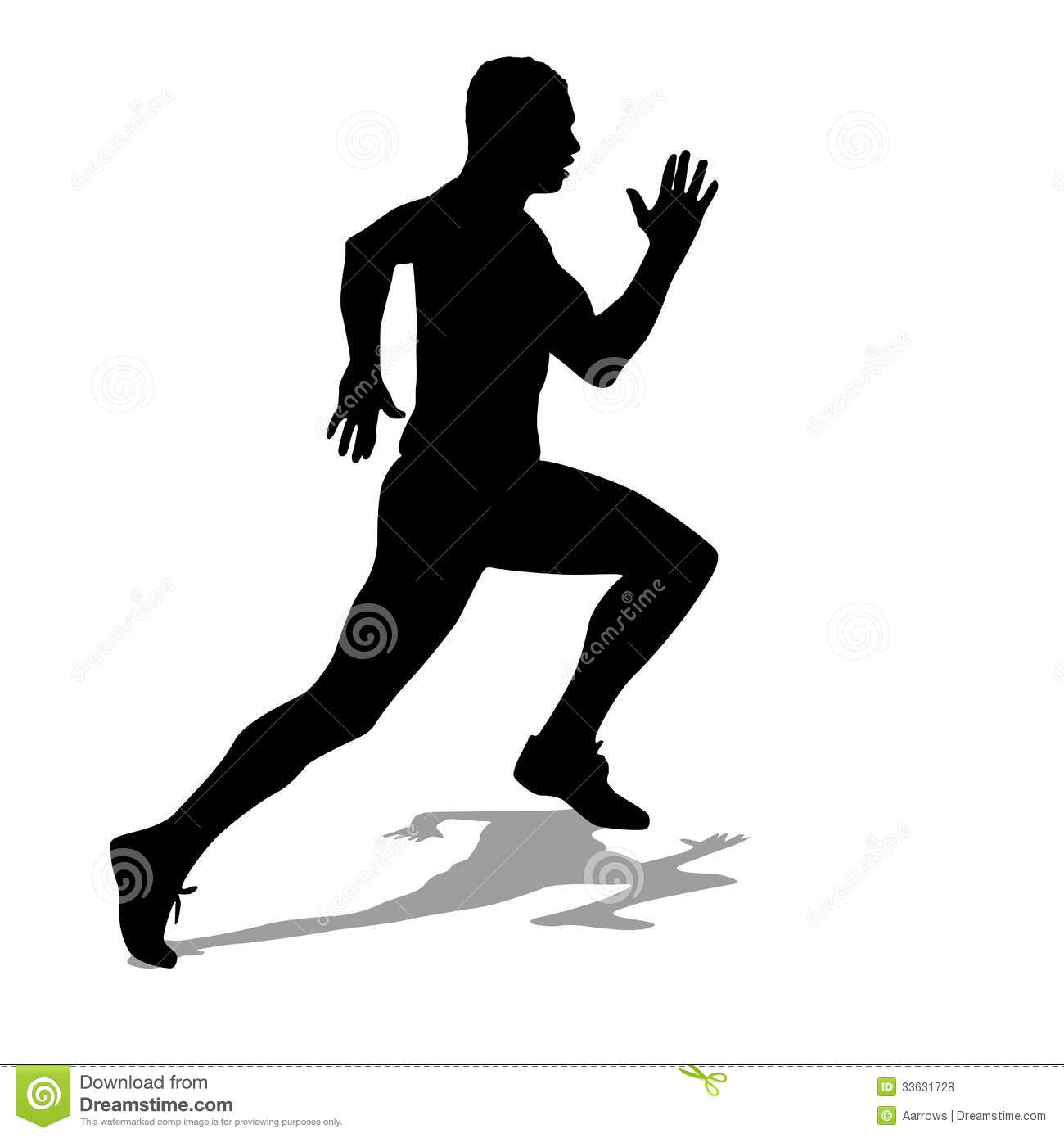 Running Silhouettes Royalty Free Stock Photos - Image: 33631728