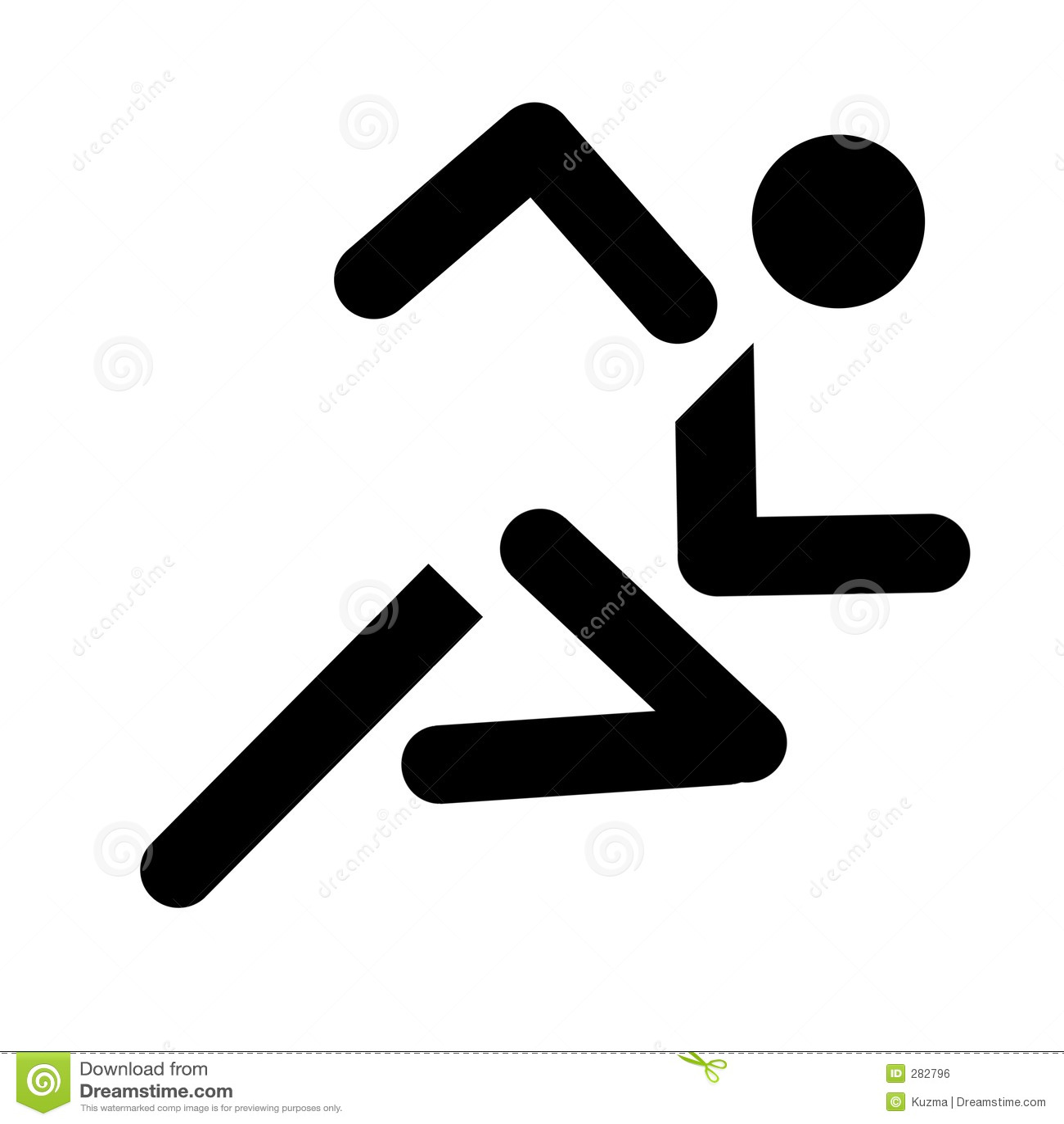 Running Sport Symbol Royalty Free Stock Image - Image: 282796