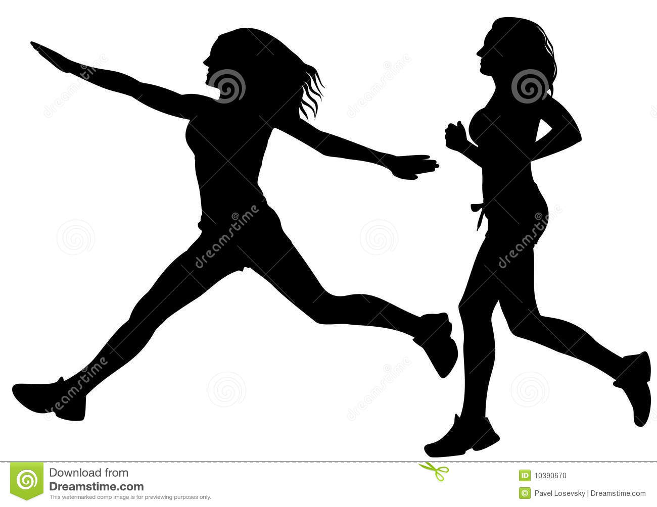 Running Sport Woman Silhouette Vector Stock Vector ...