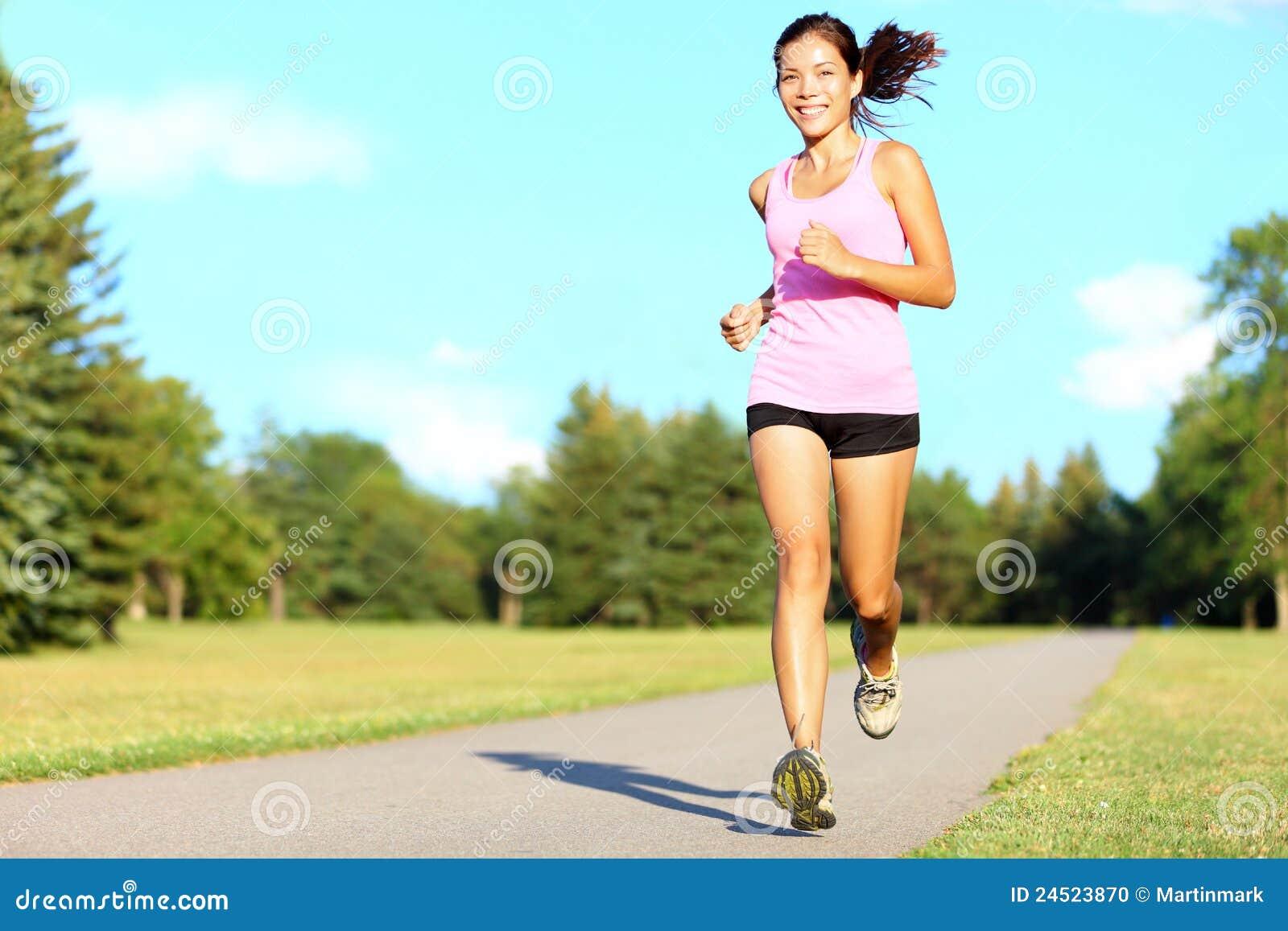 Running sportkvinna för kondition
