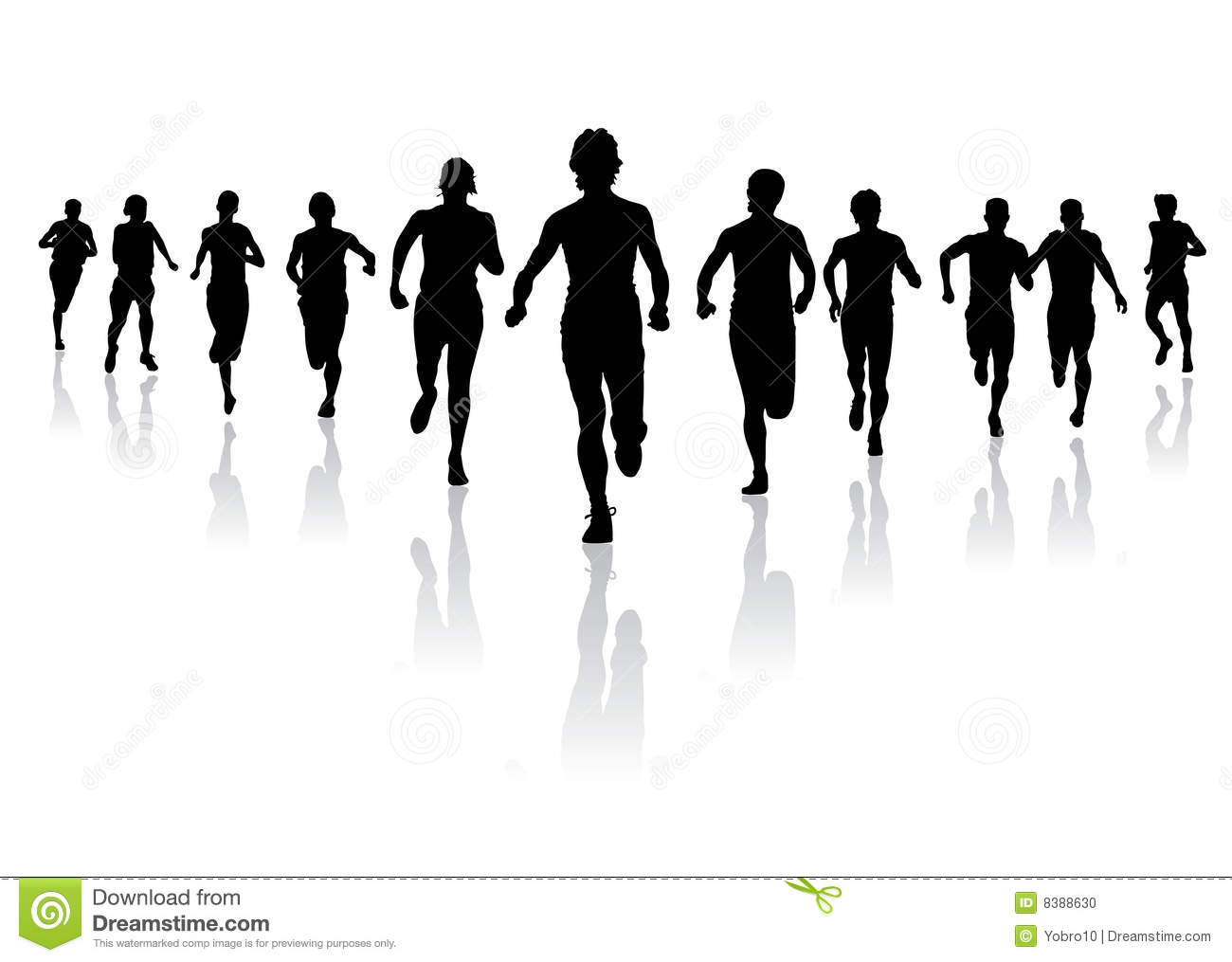 Group Running Clipart running towards the finish stock photo - image ...