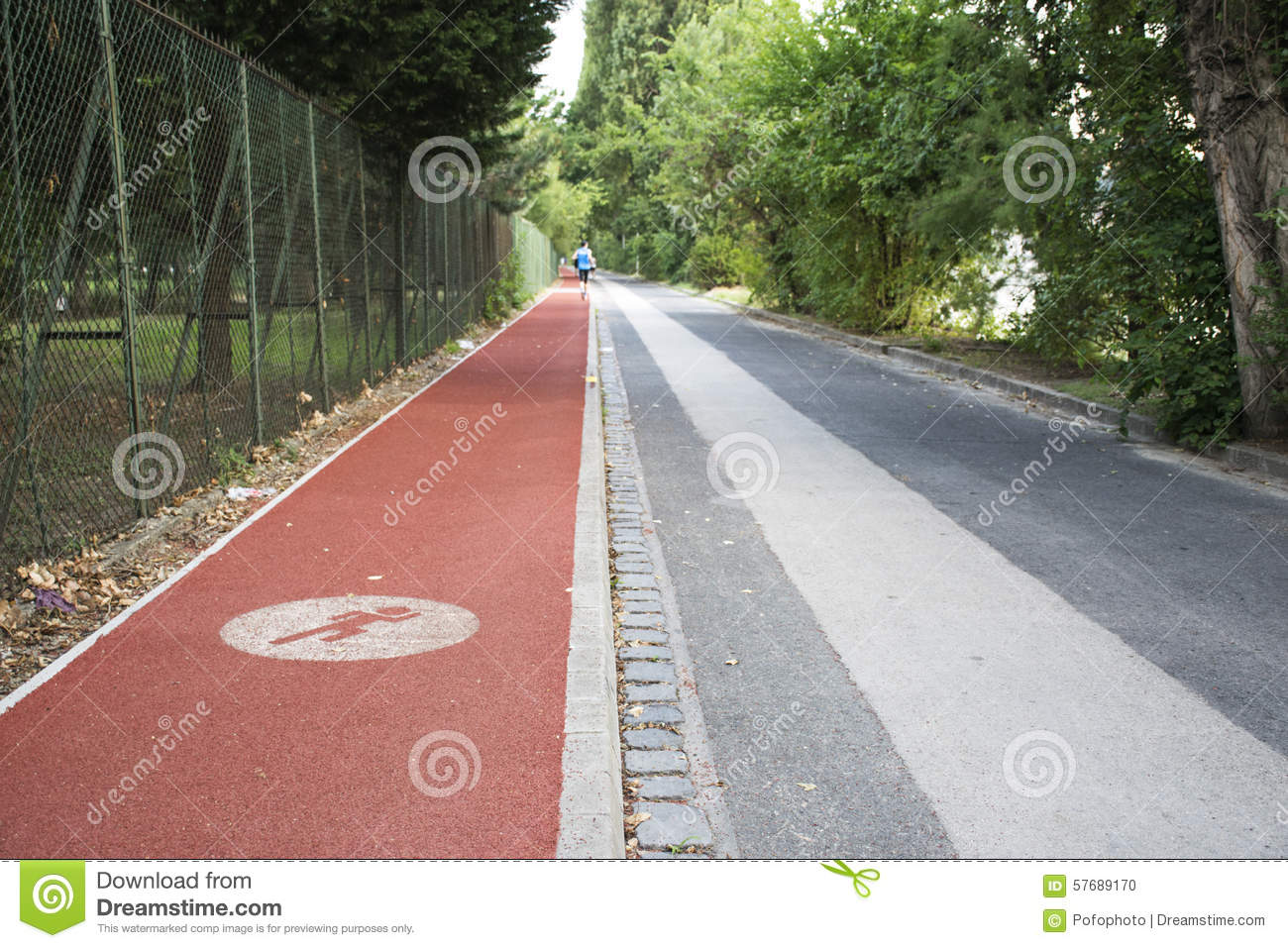RUNNING TRACK IN THE CITY PARK