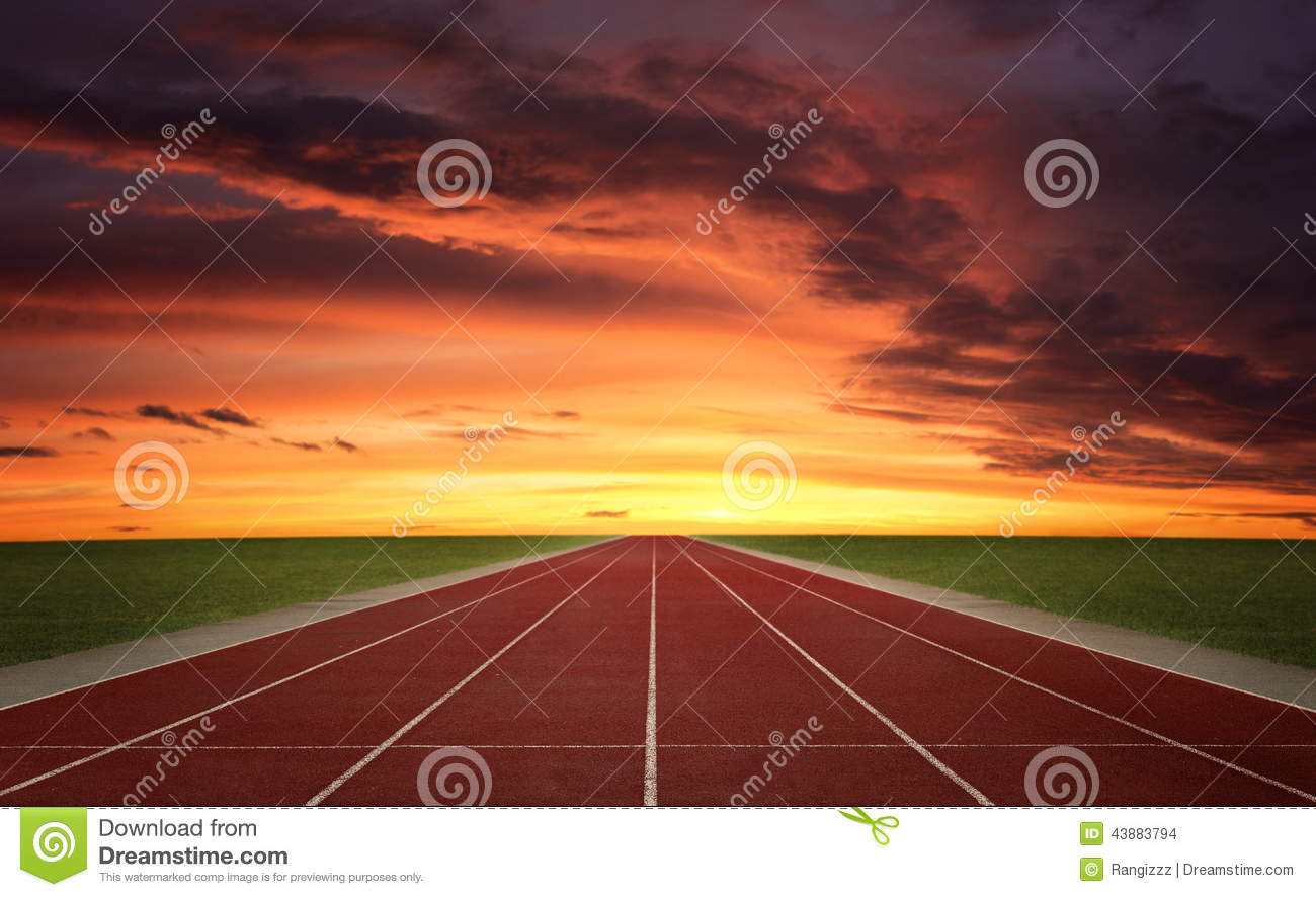 Running Track Stock Photo - Image: 43883794