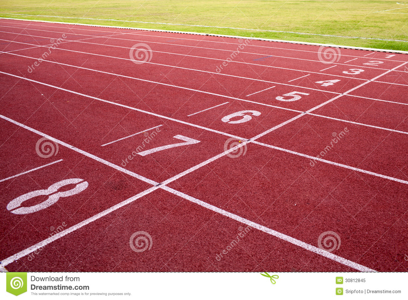 Running Track And Green Field Royalty Free Stock Photo - Image ...