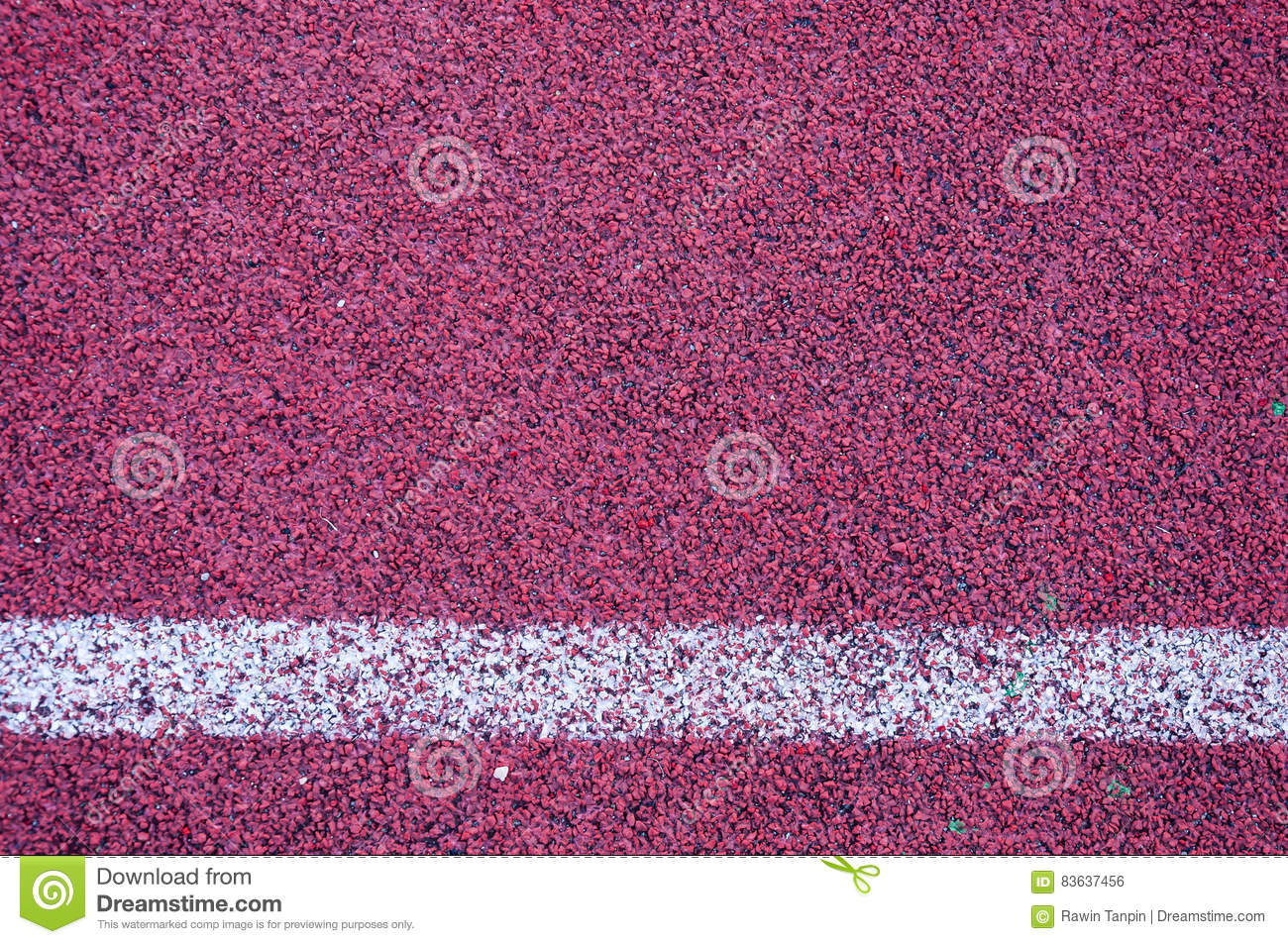 Line Texture Background : Running track with white line texture stock photo image