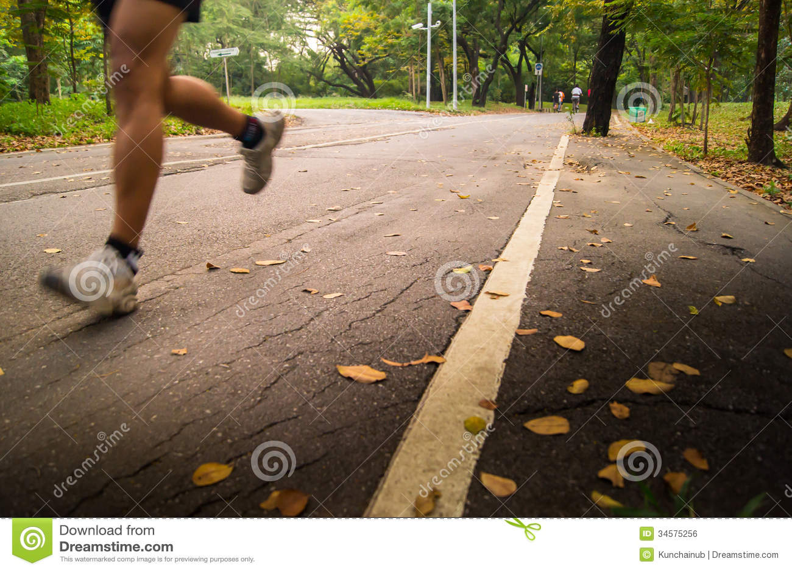 Running Way Royalty Free Stock Image - Image: 34575256