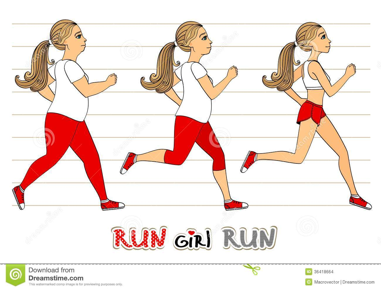 Running Woman Weight Loss Progress Stock Images - Image ...