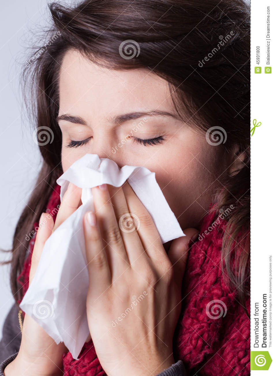 how to stop your nose from running when sick