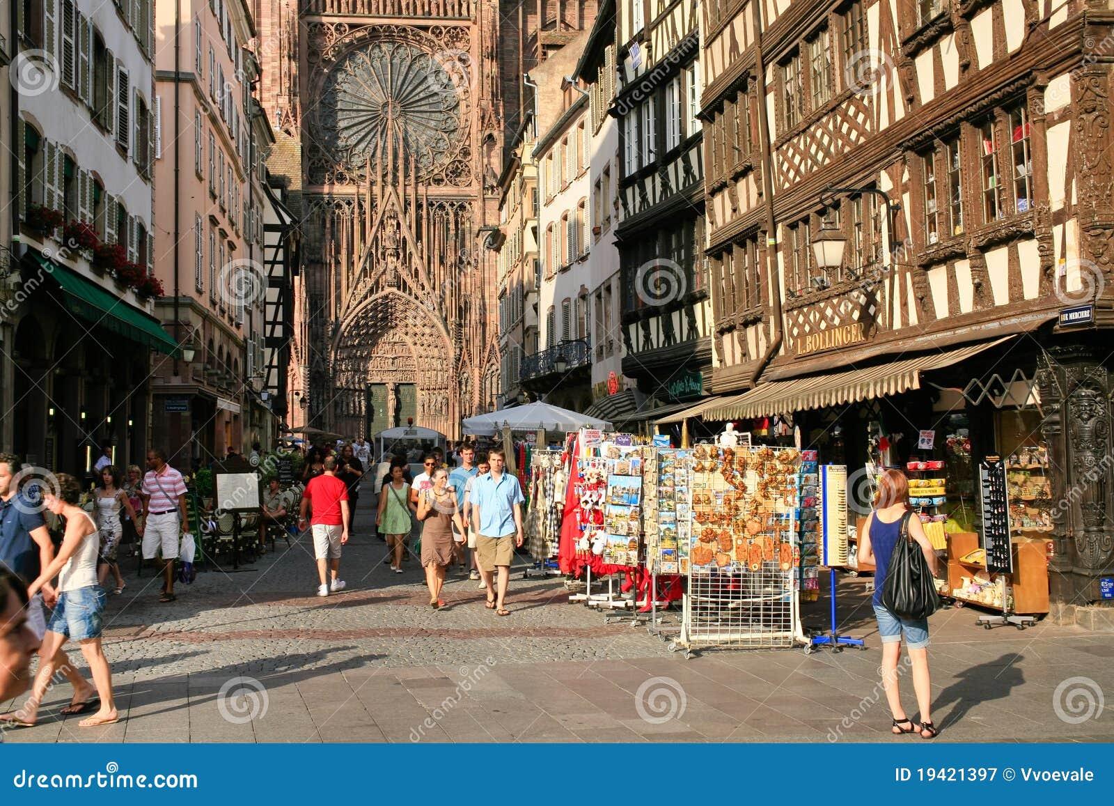 Runt om cathedraledamenotre strasbourg