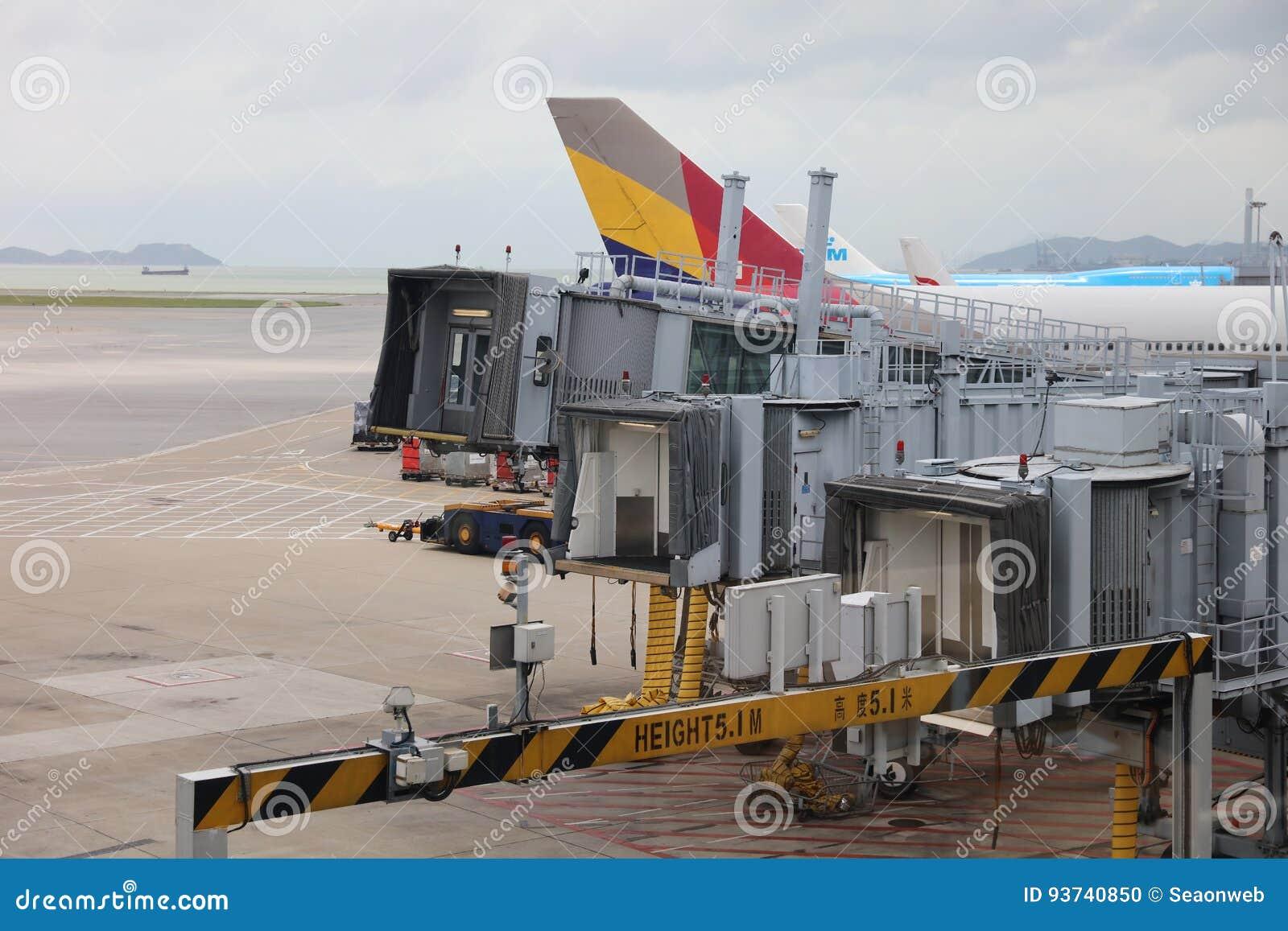 runway of Hong Kong International Airport site.