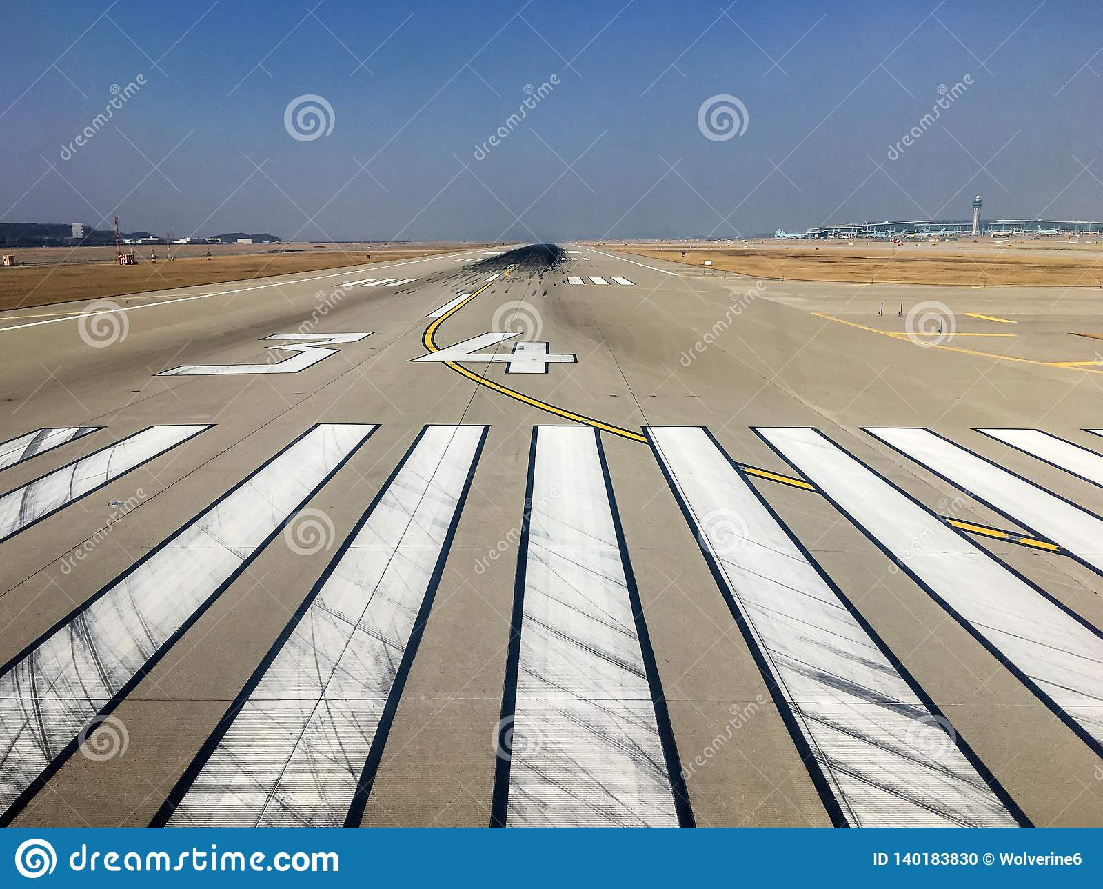 Runway At The Incheon International Airport Stock Photo - Image of ...