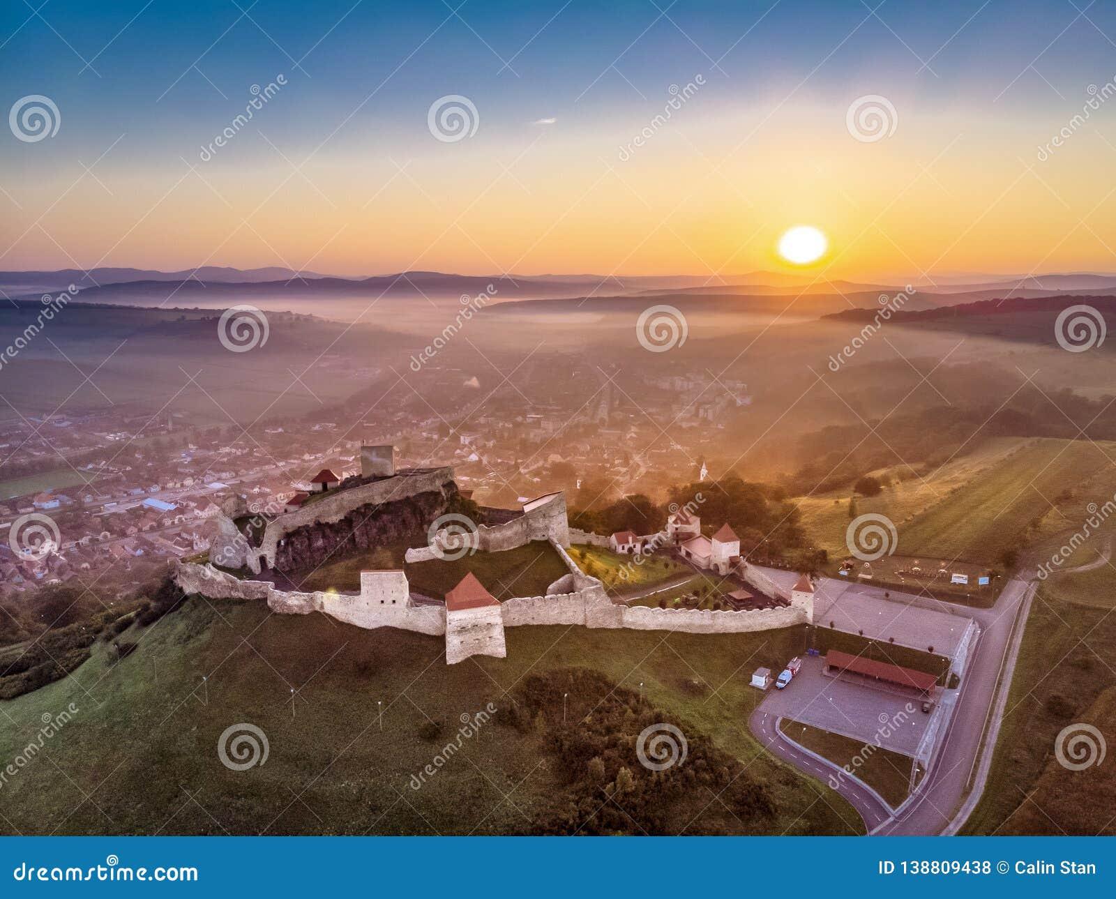 Rupea fästning i den Transylvania, Rumänien symbolen och en av de mest besökte turist- dragningarna