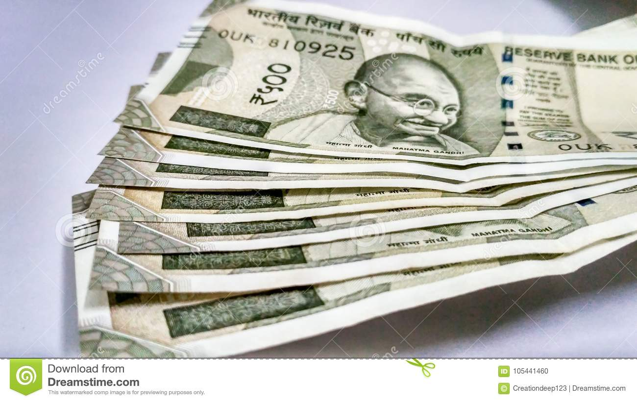 500 Rupees Indian Currency Stock Photo. Image Of