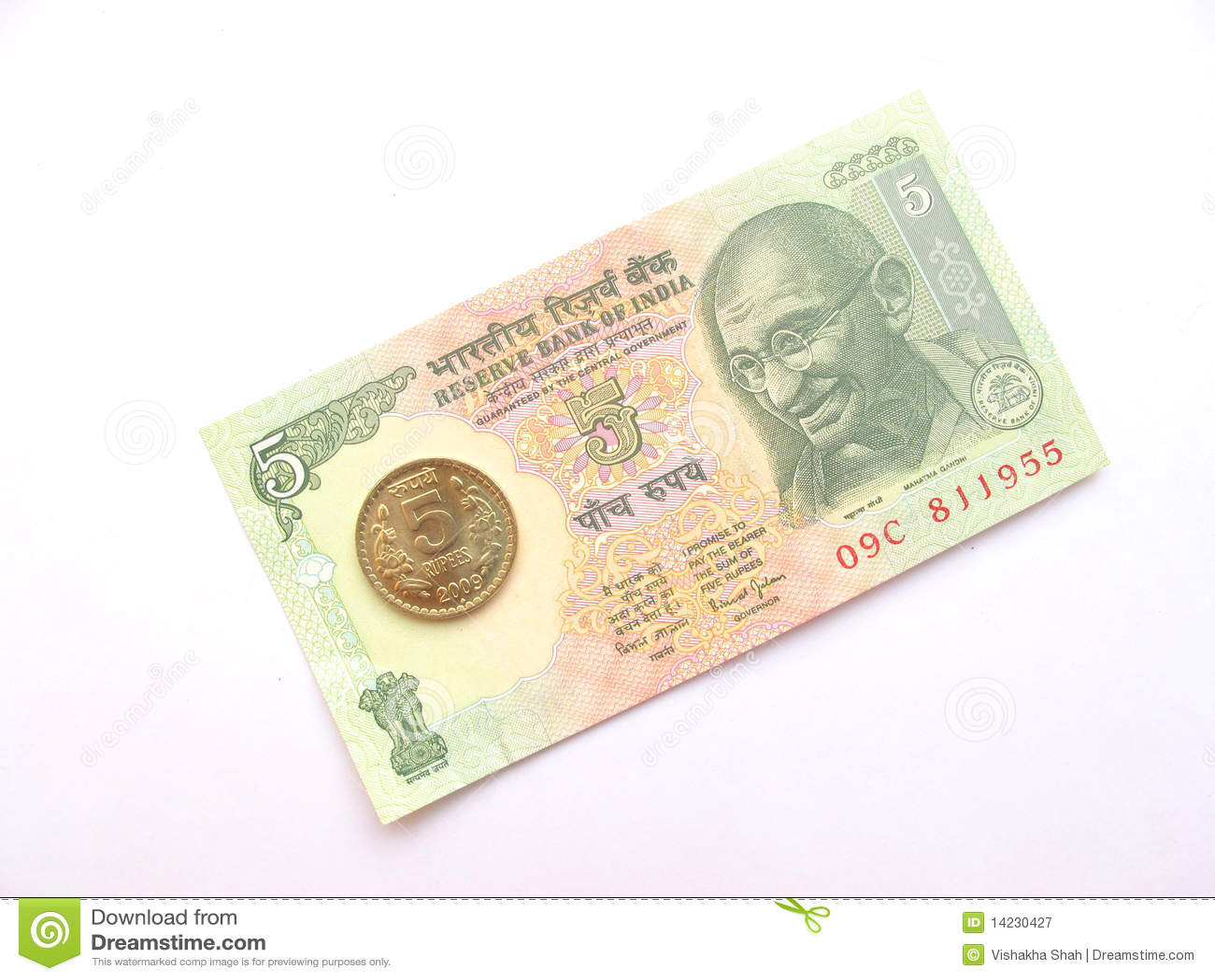 Rupie indiane di Valuta-Cinque