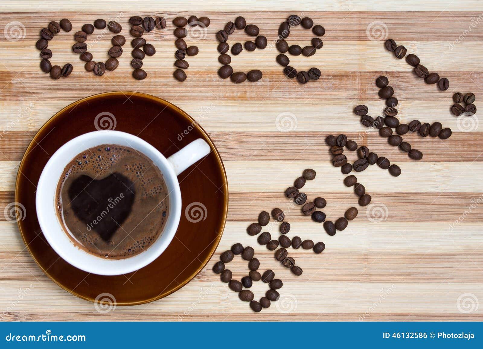 Ruptura de café com xícara de café
