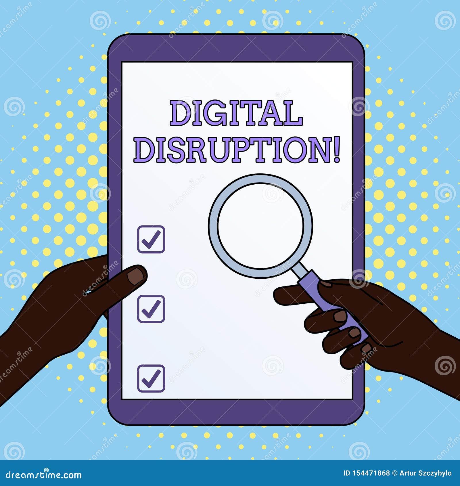 Rupture de Digital des textes d ?criture de Word Concept d affaires pour les changements qui affectent des mains de restauration