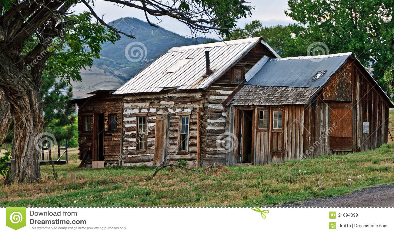 Rustic Cabin House Plans Rural Country Shack Stock Image Image Of Colorado