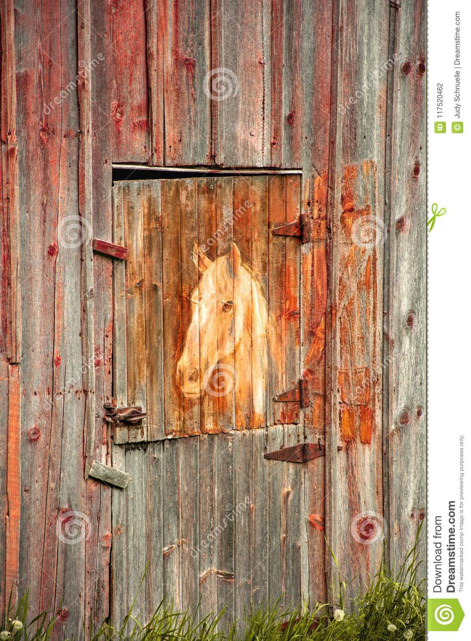 Horse Painting On An Old Barn Editorial Photography Image Of Barn Farm 117520462