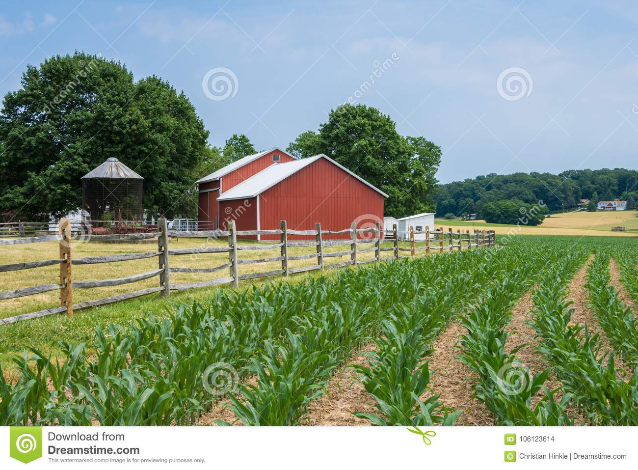 Download Rural Country York County Pennsylvania Farmland, On A Summer Day Stock Photo - Image of farm, agriculture: 106123614