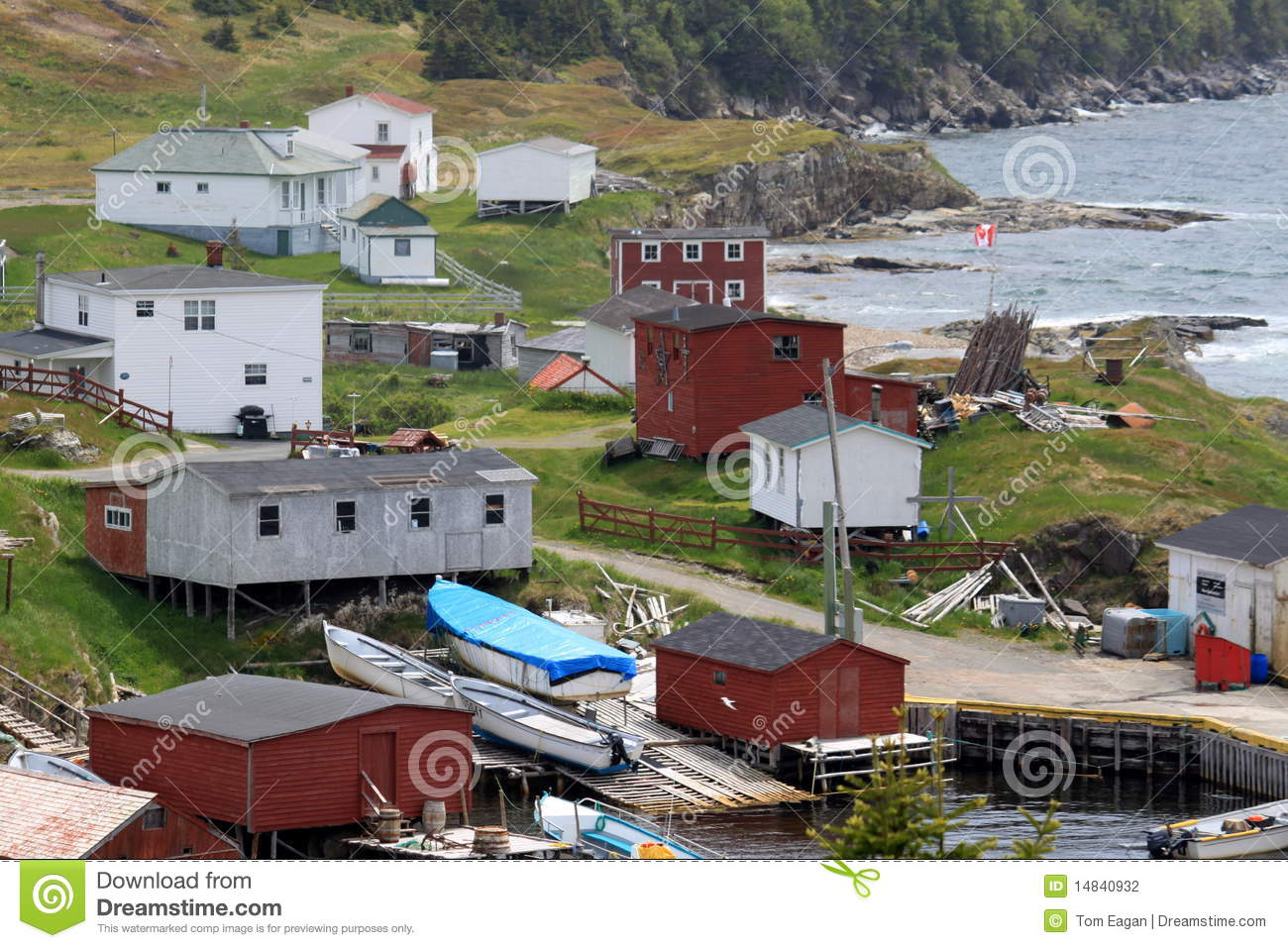 Rural fishing village stock photography image 14840932 for Trinity bay fishing