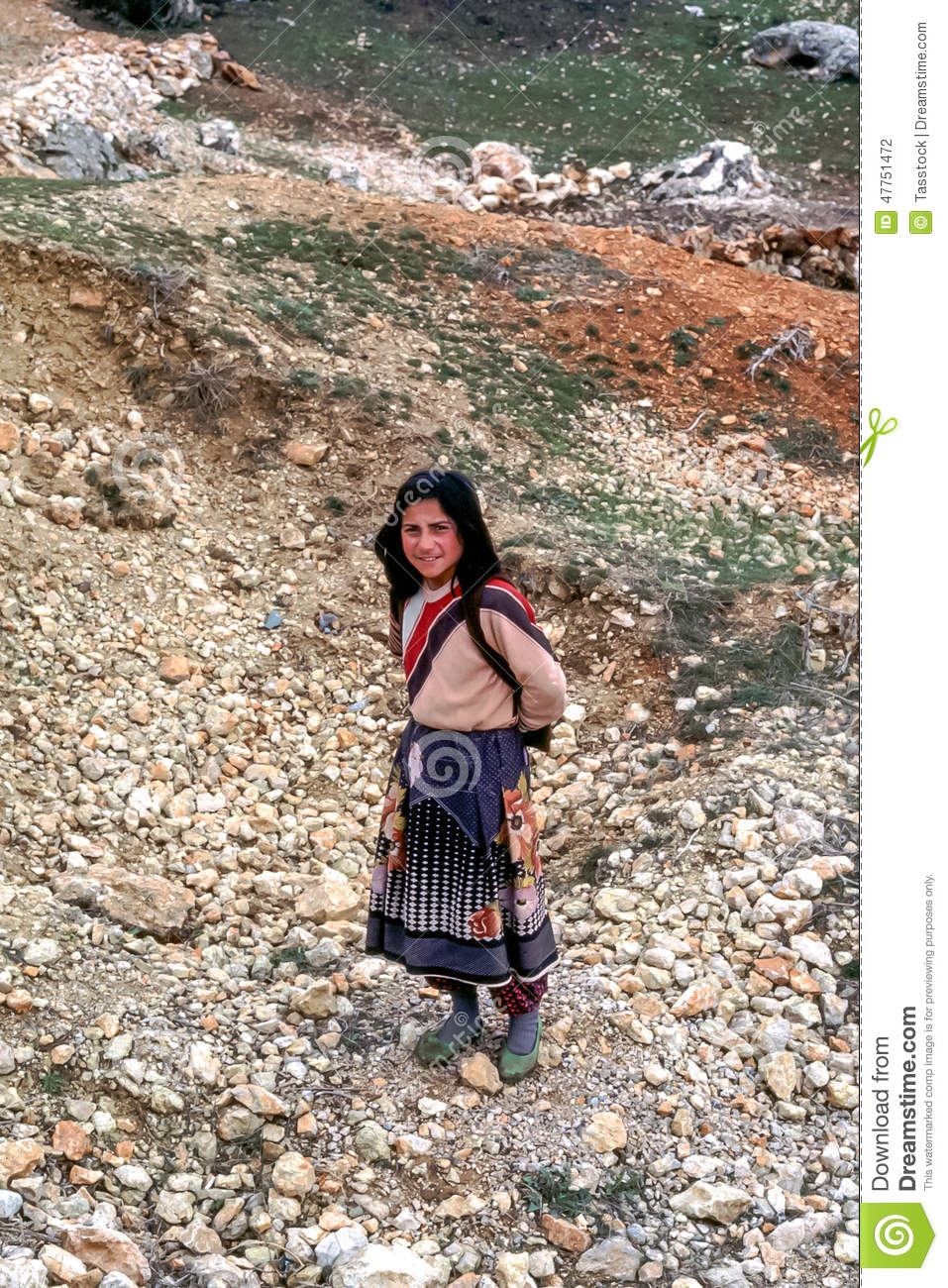 Turkish Rural Woman In Traditional Dress Editorial Image