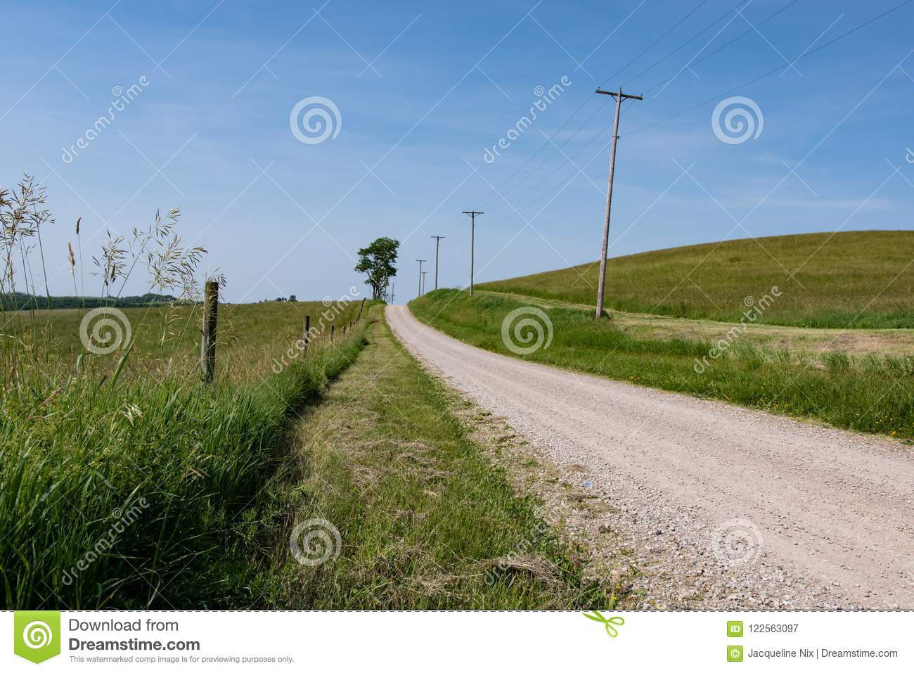 Rural country road background