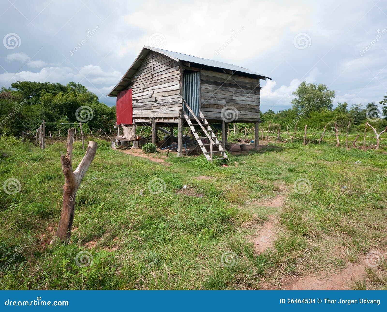 Rural home in cambodia stock photo image of khmer for Utah rural housing