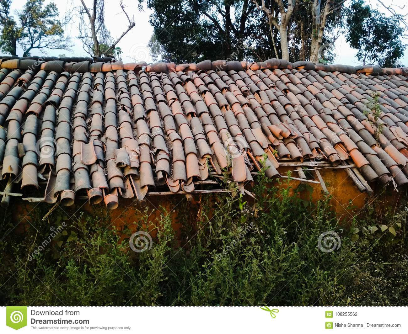 Rural home stock photo  Image of area, house, tiled - 108255562