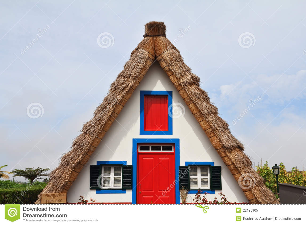 Rural House Clear Geometric Shapes Stock Image Image