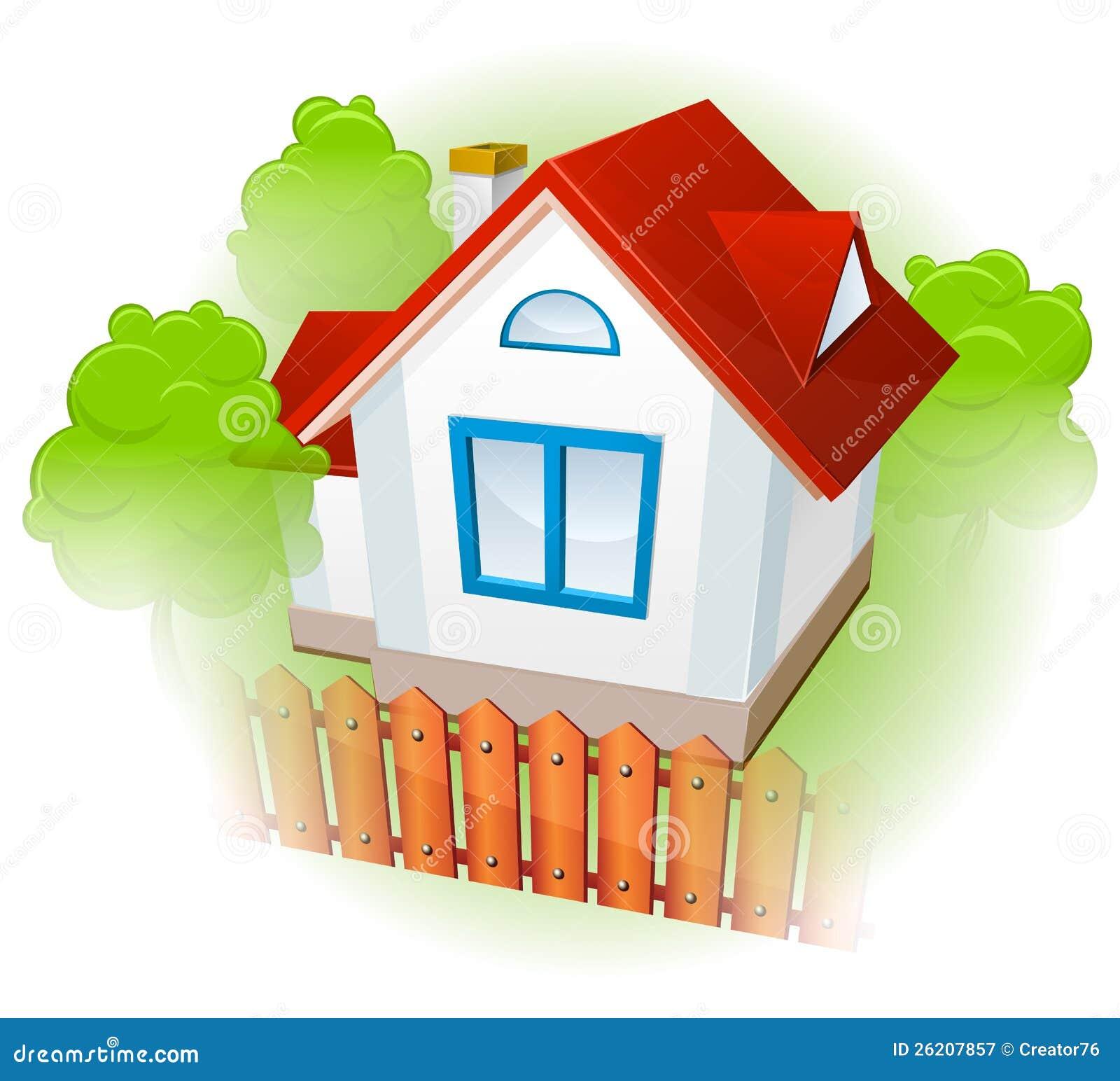 rural house with garden stock vector illustration of symbol 26207857. Black Bedroom Furniture Sets. Home Design Ideas