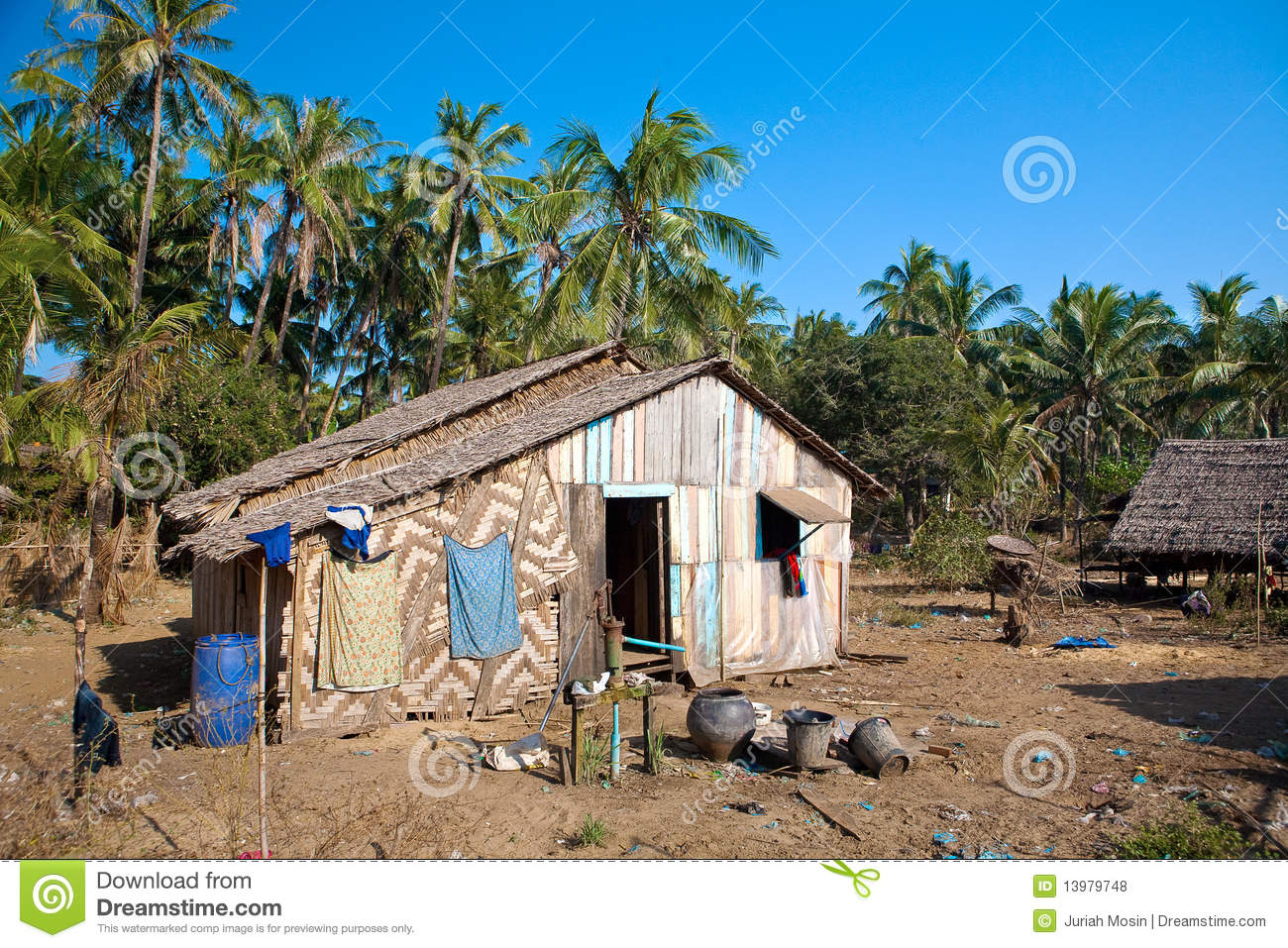 Rural house made out of natural material stock photo image 13979748 - Houses made from natural materials ...