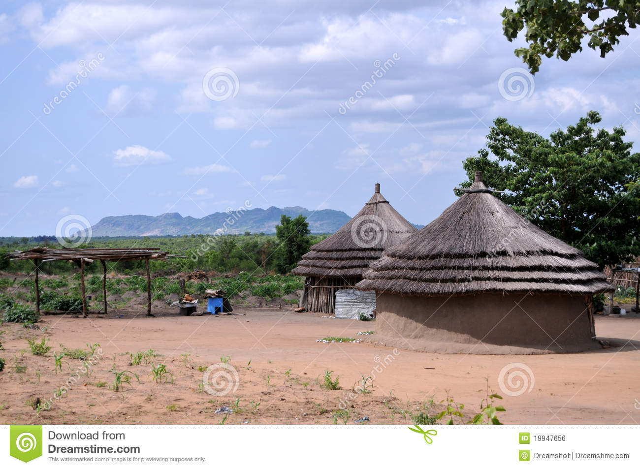 Rural Houses In Africa Royalty Free Stock Image Image