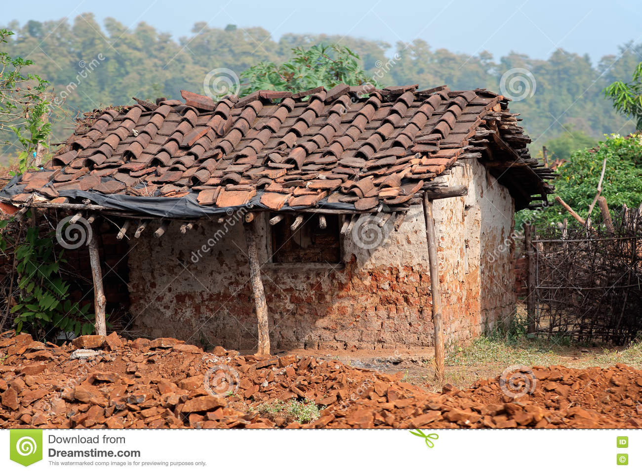 Rural indian hut stock photo image 78222463 for Making hut with waste material