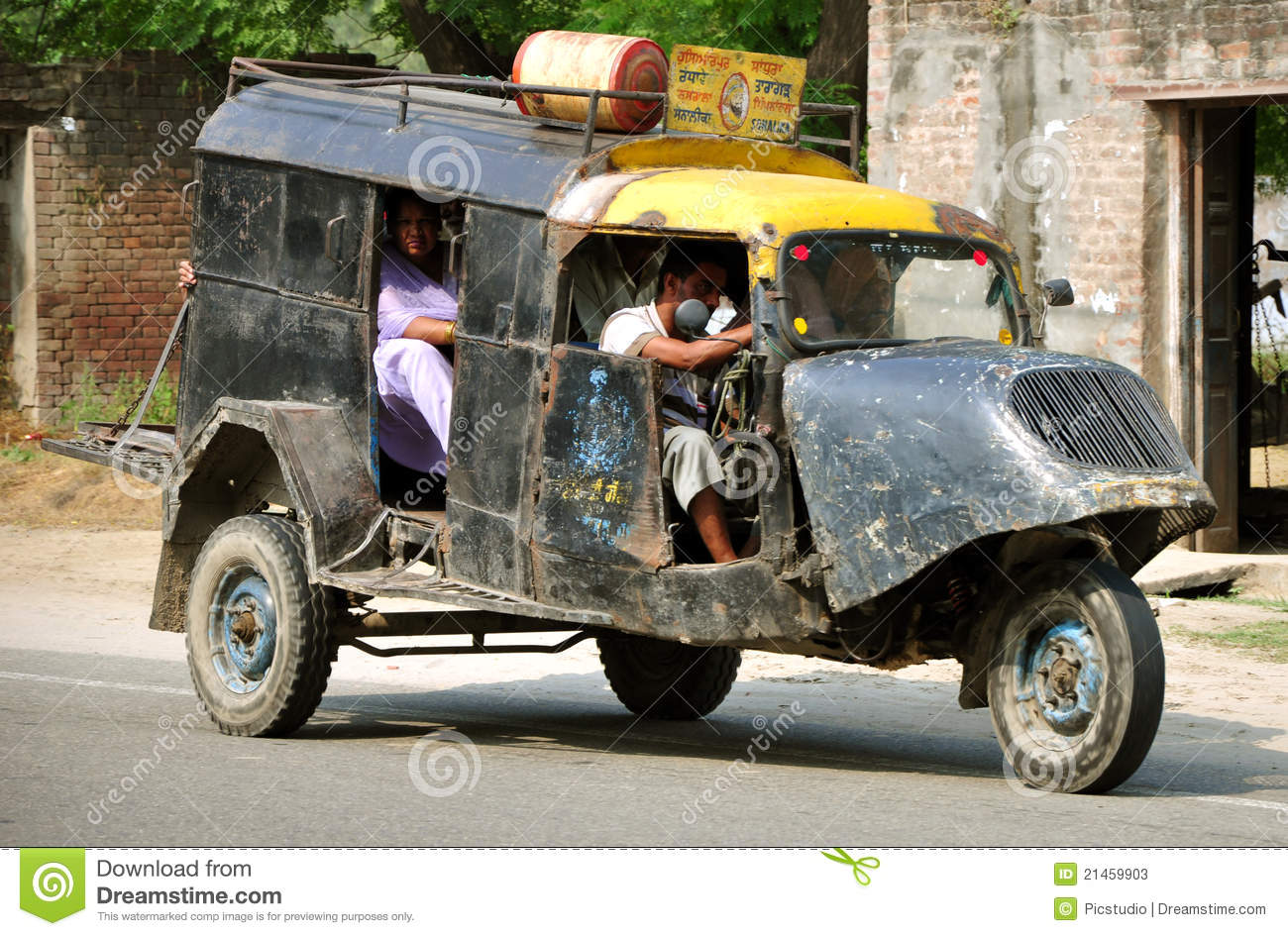Hoshiarpur India  city photos : Rural indian transportation auto in hoshiarpur, punjab india.