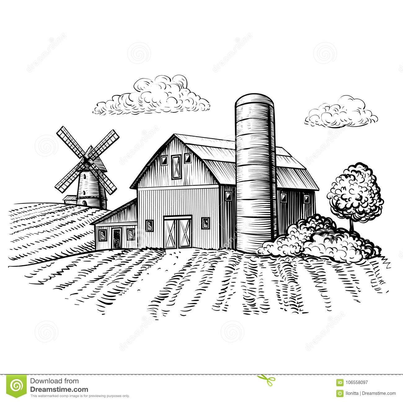 This is a picture of Dynamite Windmill Drawing Easy