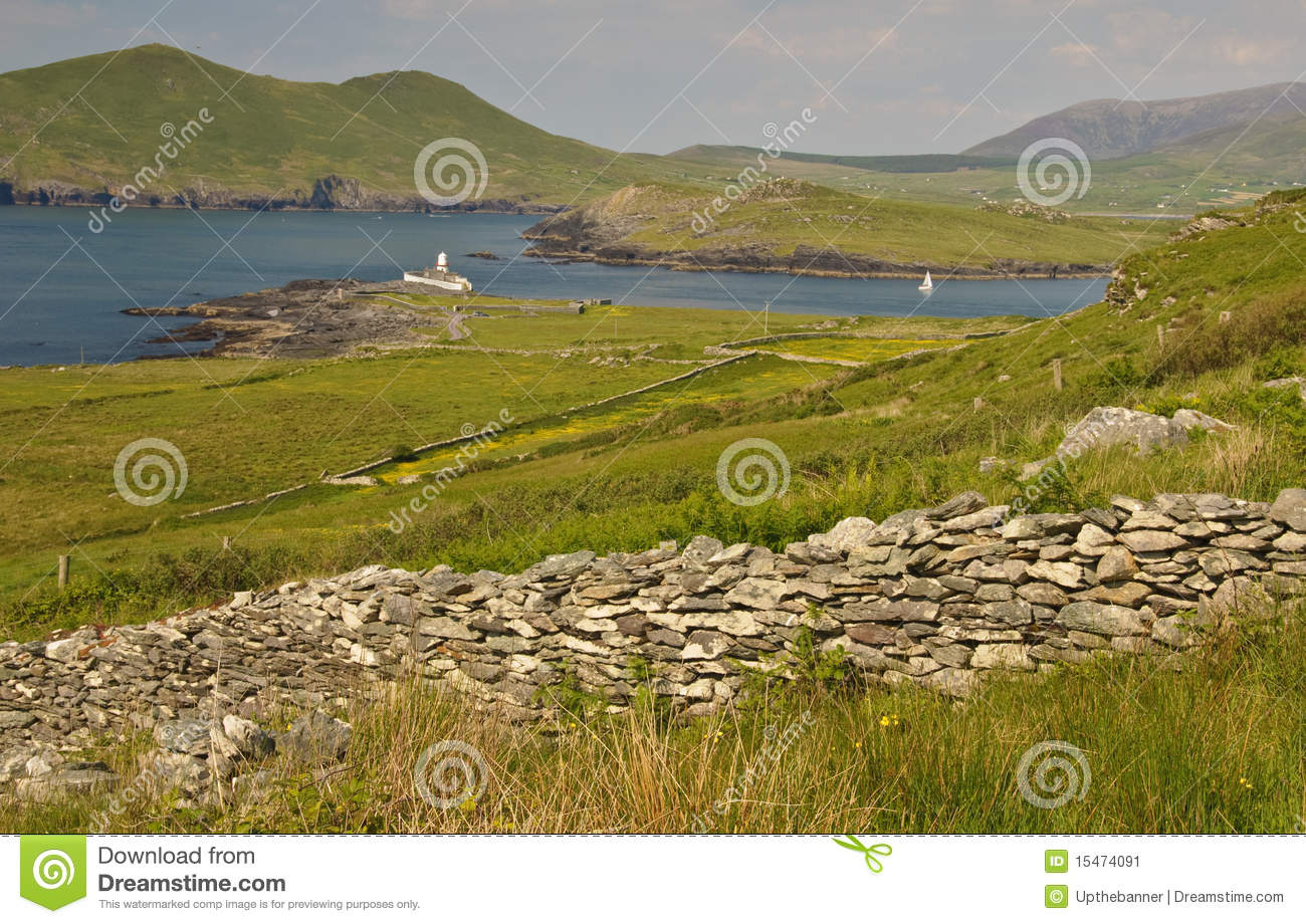 Rural landscape from ring kerry ireland stock image for Garden design kerry