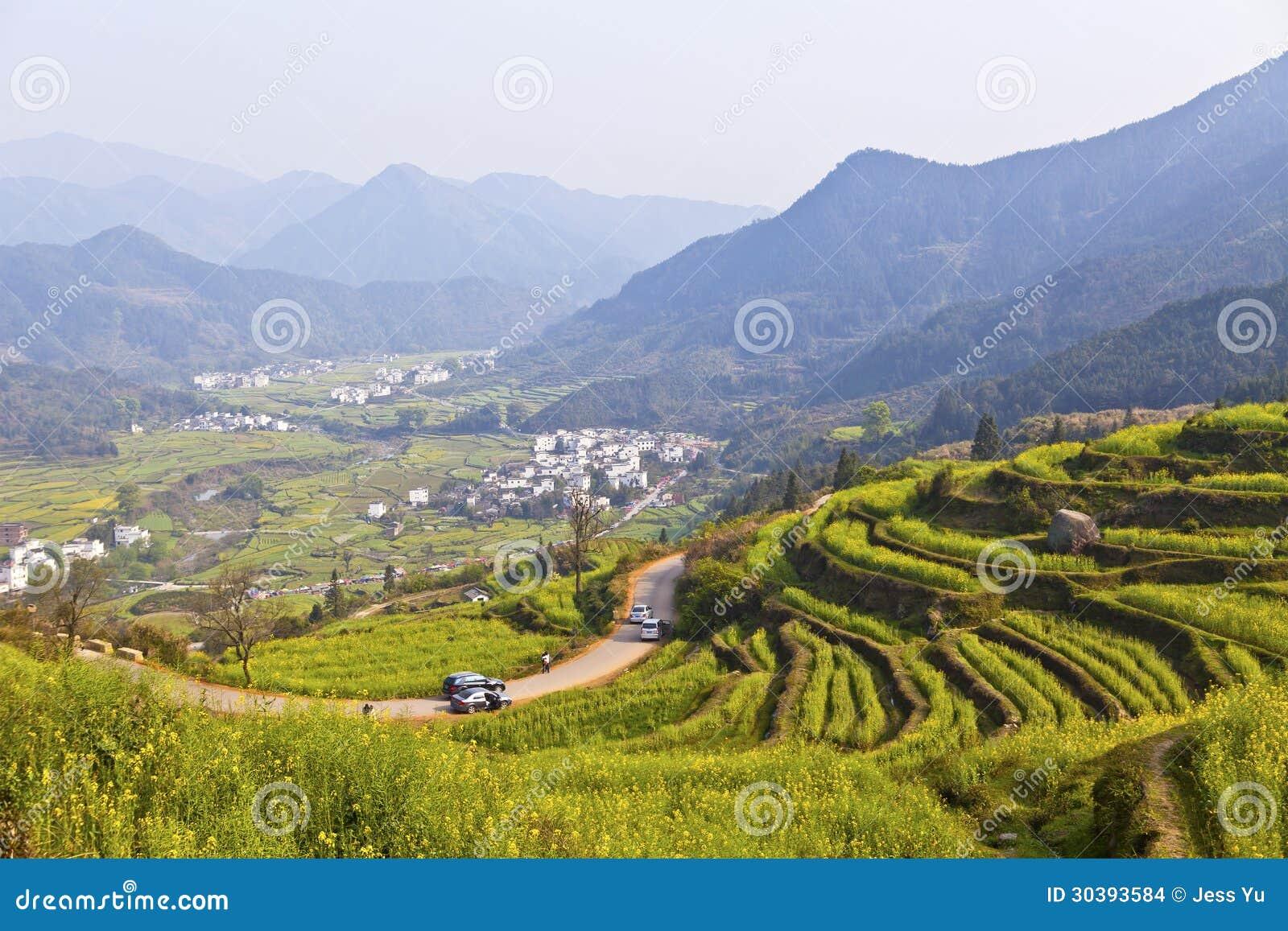Wuyuan China  city photo : Rural Landscape In Wuyuan, Jiangxi Province, China. Stock Images ...