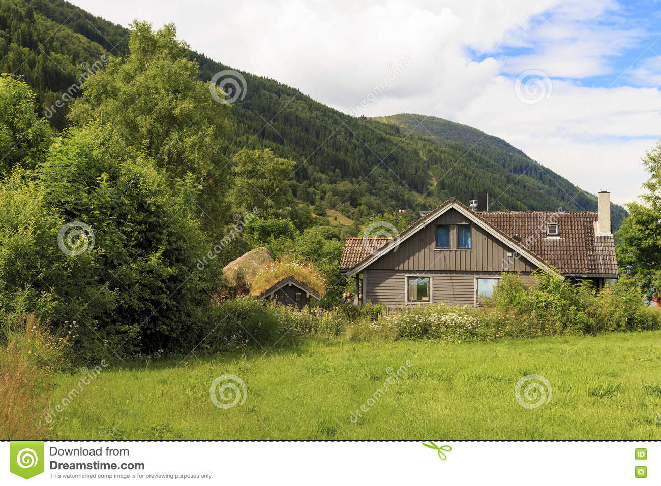 Rural life in norway editorial photo 82299927 - The house on the rock the ultimate refuge in a norwegian fjord ...