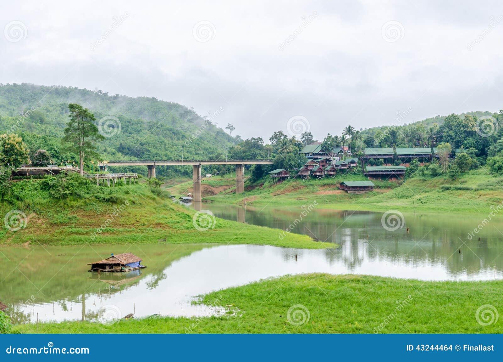 Sangkhla Buri (Kanchanaburi) Thailand  city pictures gallery : ... wooden Mon Bridge in Sangkhla Buri, Kanchanaburi Province , Thailand