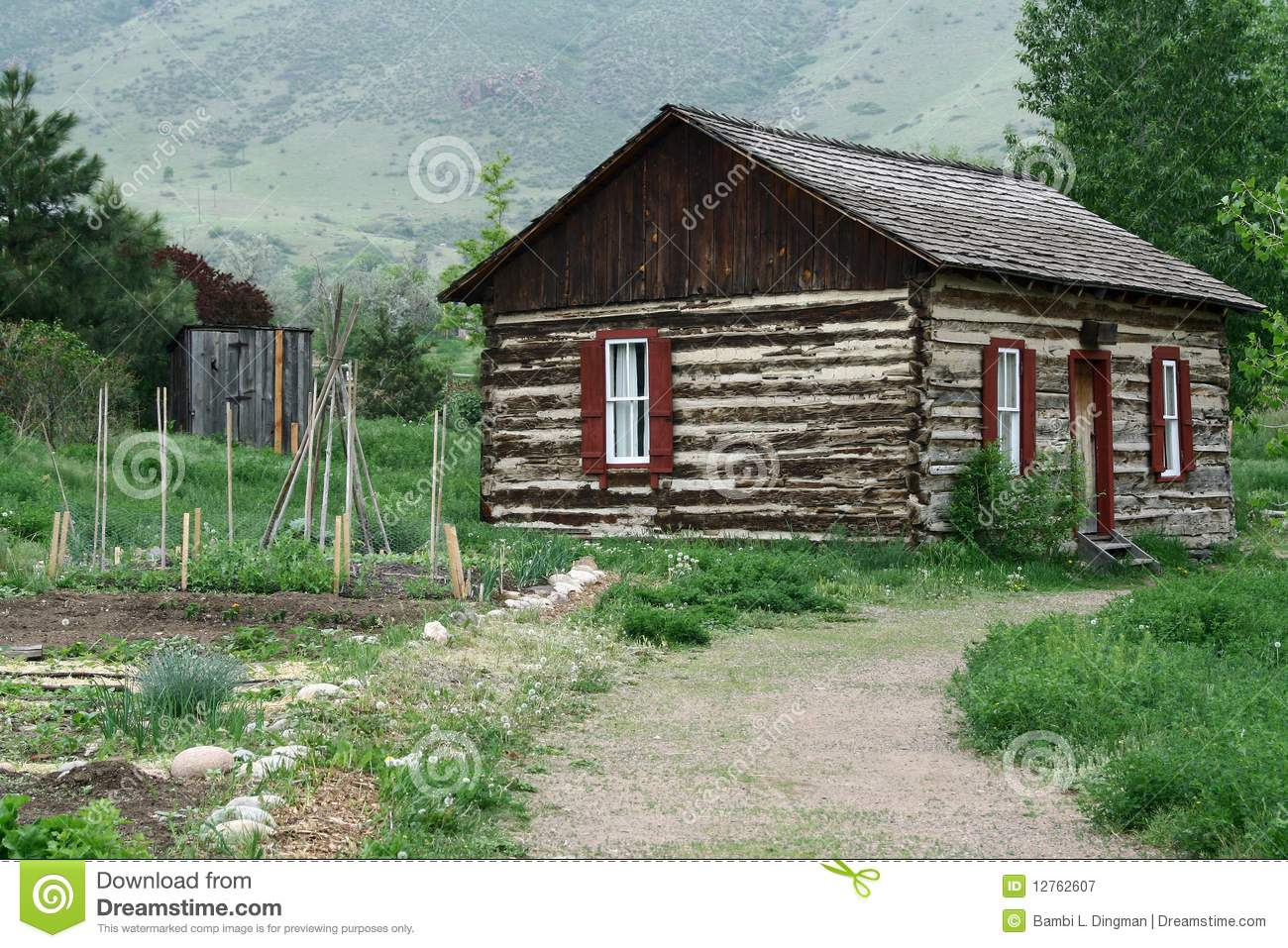 Rural Log Cabin Royalty Free Stock Photography Image