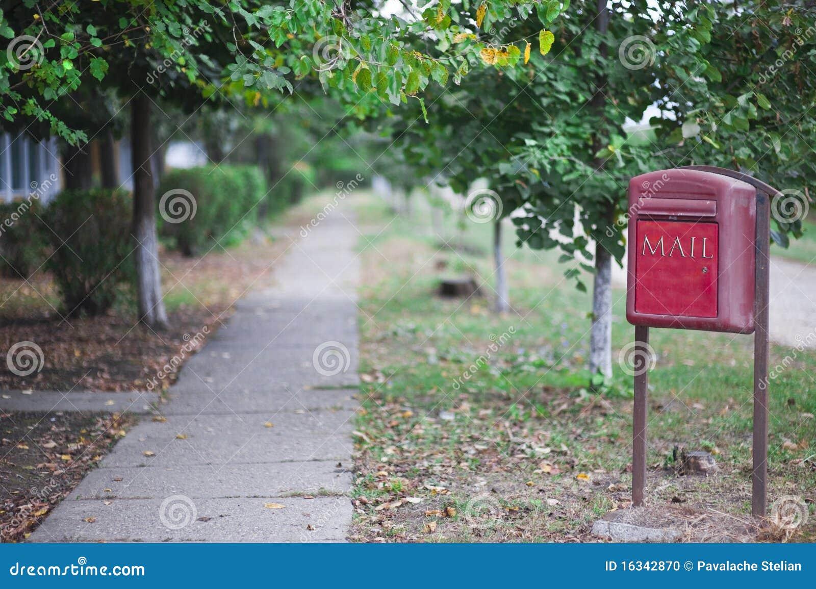 Rural mail post box