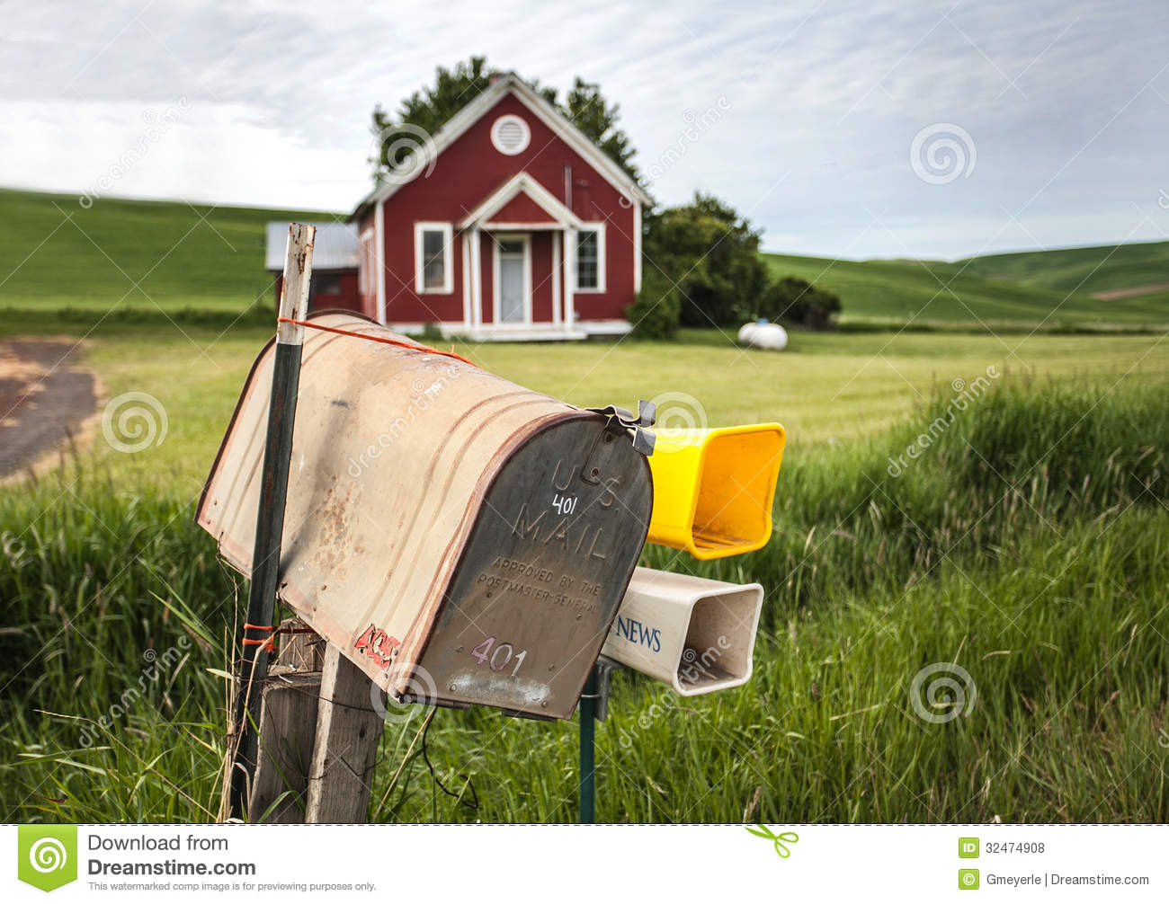 Rural mailbox stock photo image of postal summer for What to do with old mailbox