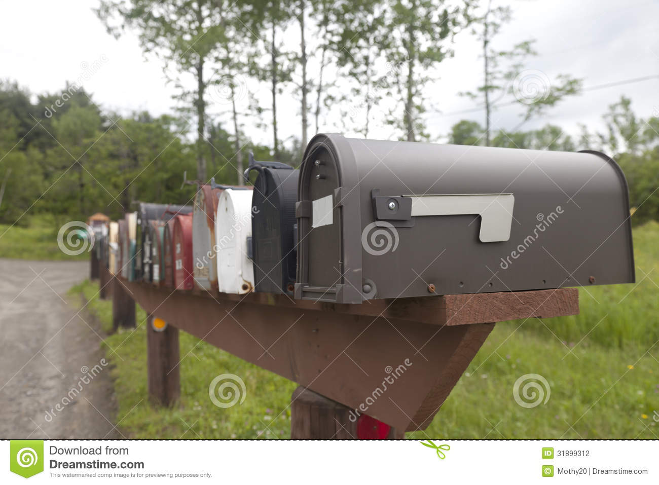 Rural mailboxes stock photography image 31899312 - Unique mailboxes for rural ...