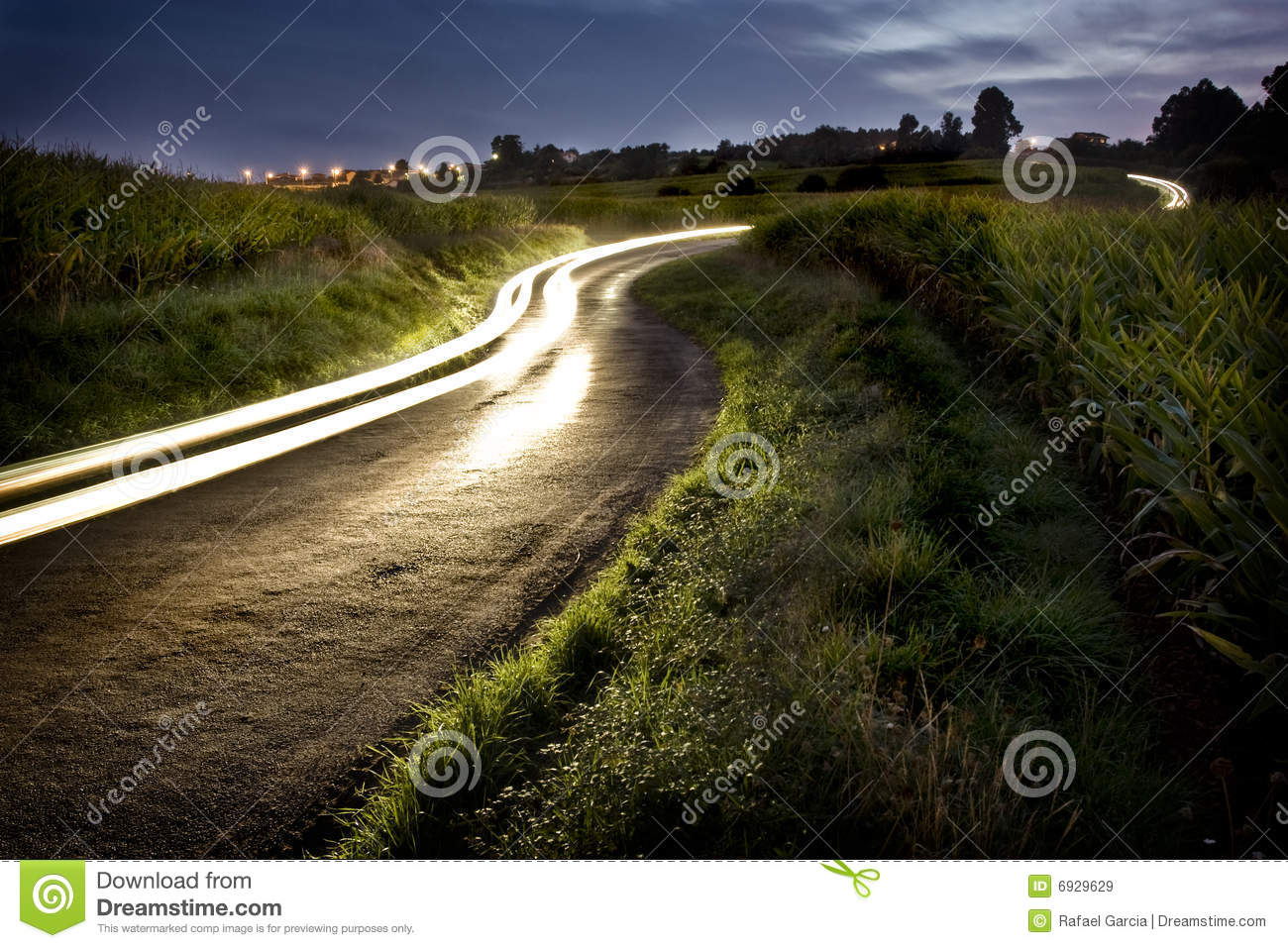 Download Rural night road stock image. Image of country, route - 6929629