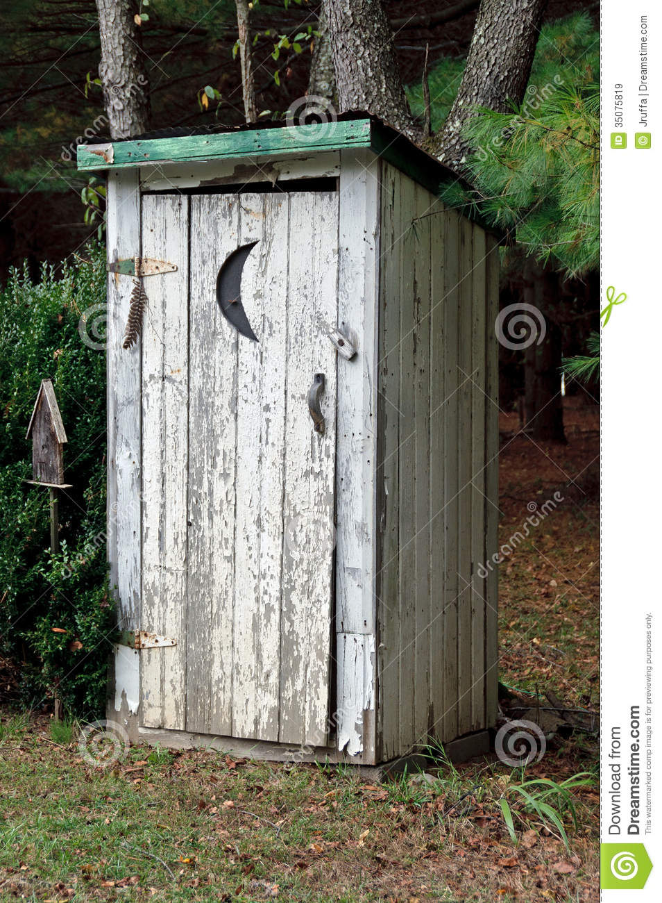 Rural outhouse stock image image of moon building shack for Outhouse pictures