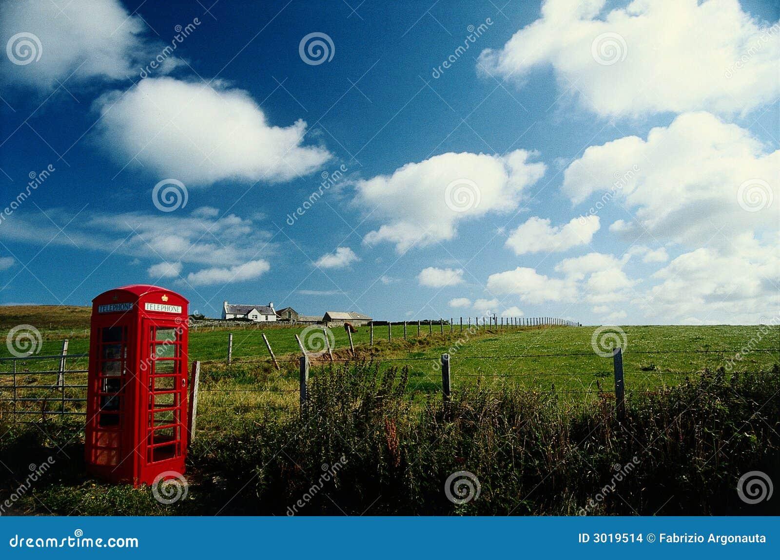 Rural phone box