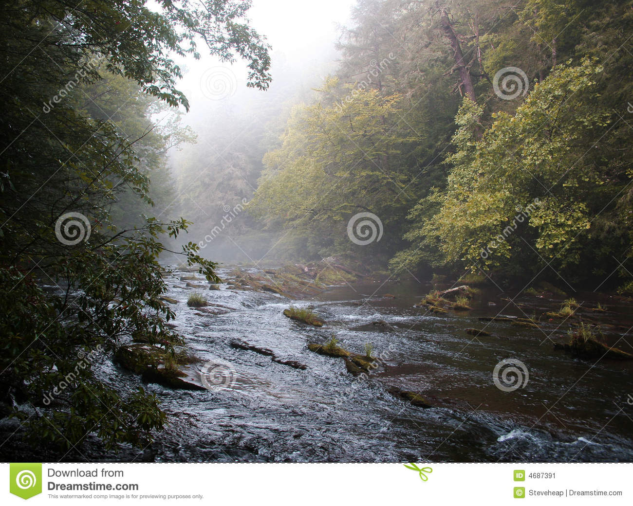 Rural River in early fall