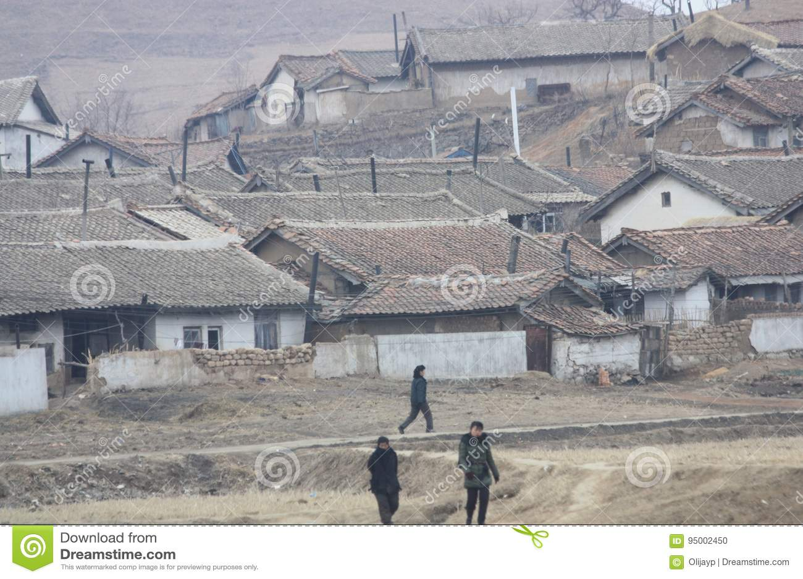 Rural Scene In North Korea Dprk Editorial Image Image Of People