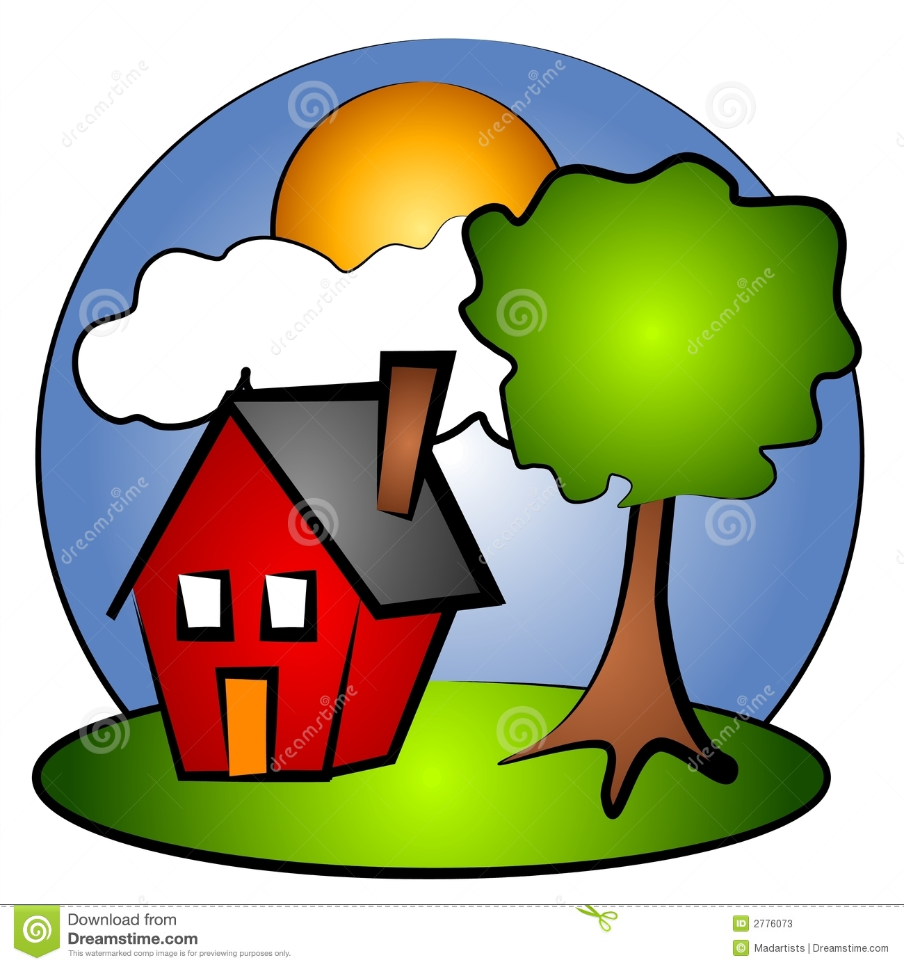 house rural scene clip art 2 stock illustration illustration of rh dreamstime com house clip art free house clip art coloring pages
