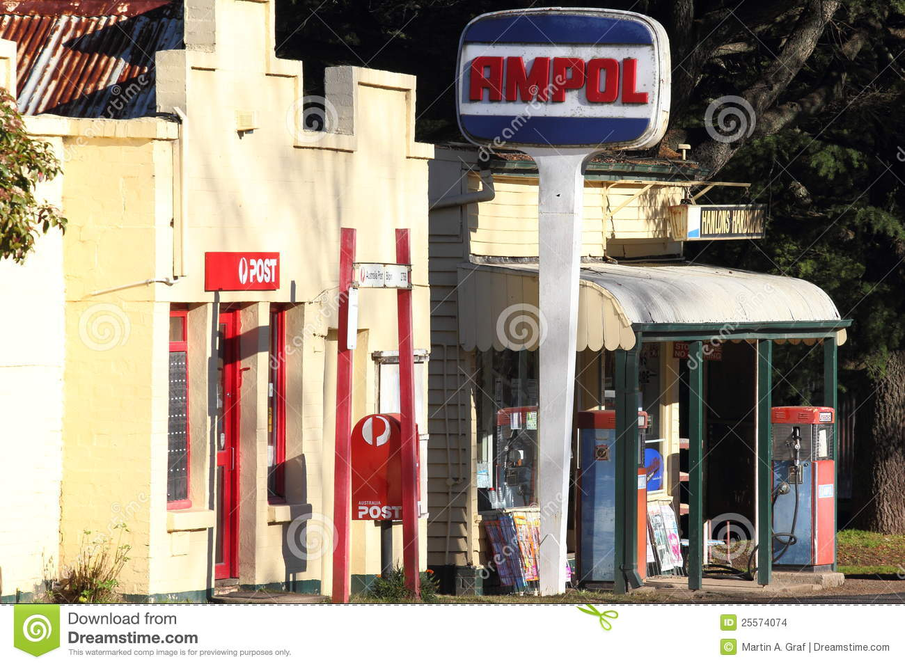 ampol service station rural editorial stock image   image